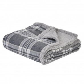 Me and My Pets Grey Check Blanket