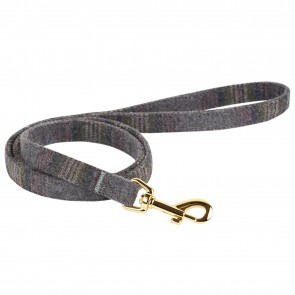 Thoroughbeds Dark Grey and Gold Tweed Dog Lead